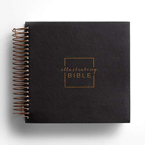 Illustrating Bible NIV Dark Grey (Spiral Bound Journaling Bible)