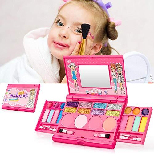 wendaby Kinder Schminke Set Make-Up Set Sicher Und Ungiftig Schminkkoffer Mit Lippenstift,...