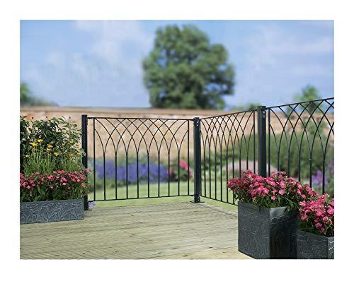 Metal cubierta Decking valla valla Panel Nova moderno: Amazon.es: Jardín