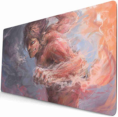 Attack on Titan Mouse pad Laptop Large Desk Keyboard pad Attack on Titan Desk mat Anime Gaming Mouse mat 80 (90cm×40cm)