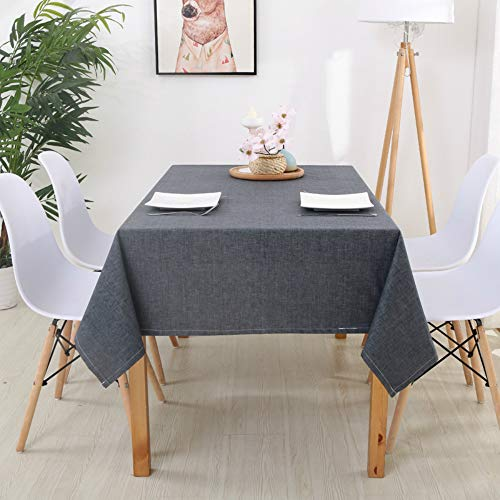 YOUYUANF - Mantel impermeable de algodón y lino, mantel rectangular, antifouling para jardín, picnic, 60 x 60 cm