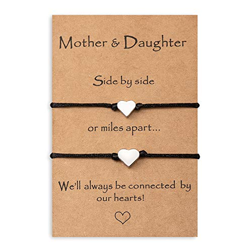 MANVEN Mom Gifts from Daughter Mom and Daughter Bracelets Set for 2...