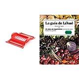 Lékué Estuche de vapor con bandeja, 1-2 personas, color rojo + Recipiente para cocinar tortillas francesas en microondas, color rojo