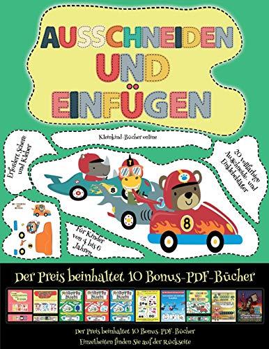 Kleinkind-Bücher online: Ausschneiden und Einfügen - Rennwagen