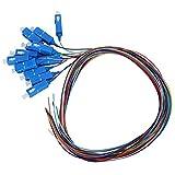 Cable flexible de fibra, SC/UPC Cable flexible de fibra óptica Modo Sigle 12 núcleos SC Cabeza cuadrada con carcasa exterior de PVC