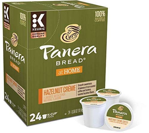 Panera Hazelnut Crème, Flavored, Light Roast Coffee, 24 Count