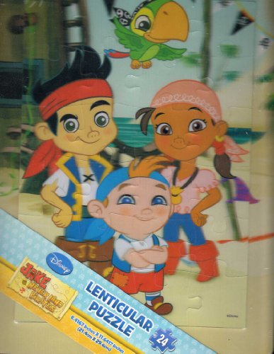 Disney Jake & the Neverland Pirates 3d 24 Piece Lenticular Tray Puzzle by Disney