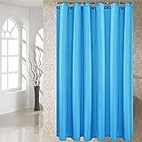 YCZZ Duschvorhang, Duschvorhangstoff aus Polyester, Badtrennwand, &urchlässiger Vorhang 200 * 220 cm Wasser blau