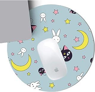 Cute Sailor Moon Design Round Mousepad with Non Slip Rubber - 8.7