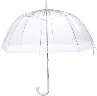 "Miles Kimball Clear Dome Umbrella, Durable Wind-Resistant Umbrella with Sturdy Bubble Design, Dome Canopy 29"" Diameter"