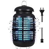Wesimplelife Lámpara Antimosquitos 15W 4000V Lampara para Mata Mosquitos Insectos Bug Zapper con Luz UV y cajón Limpio Lámpara de Alto Voltaje para Matar Insectos Moscas Polillas para Casa Jardín