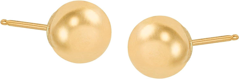 Welry 7 mm Polished Ball Stud Earrings in 10K Gold