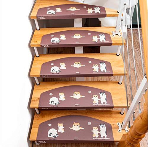 JKlazy Selbstklebende Treppenmatte Cartoon-Demi 10pc Trittmatte Massivholztreppenaufkleber Trittsticker Türmatte Rutschfester Heimteppich Leuchtend 55x22cm