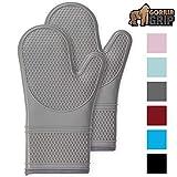 Gorilla Grip Premium Silicone Slip Resistant Oven Mitt Set, Soft Flexible Oven Gloves, Heat...