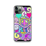 Phone Case Psychedelic Hippy Retro Peace Art Compatible with iPhone 6 6s 7 8 X XS XR 11 Pro Max SE 2020 Samsung Galaxy Waterproof Funny