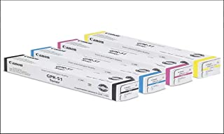 Canon GPR-51 Toner Cartridges (1 Each of BK/CY/MG/YE) for: ImageRunner Advance C250/C250if/C350/C350if.