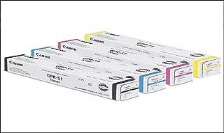 Canon GPR-51BK GPR-51C GPR-51M GPR-51Y ImageRunner Advance C250 C255 C256 C350 C355 C356 Toner Cartridge Set (Black Cyan Magenta Yellow, 4-Pack) in Retail Packaging