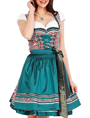 Krüger Damen Trachten Dirndl kurz, Modell: Garden Eden, über Knie, Art.-Nr. 045695-0-0055, 42, blau