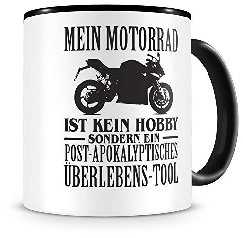 Samunshi® Mein Motorrad ist kein Hobby Tasse Kaffeetasse Teetasse Kaffeepott Kaffeebecher Becher