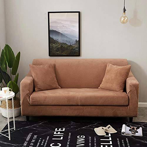 Divano Protettivo Imbottito Mobili Copertura Panno Antiscivolo,Autumn And Winter Plush Padded Sofa Cover, Elastic Non-Slip Sofa Cover, all-Inclusive Furniture Protection Cover-19_145-185Cm