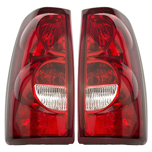 Aftermarket Replacement Driver and Passenger Set Tail Lights Compatible with 2003 Silverado 1500 2500 Fleetside Pickup Truck 19169002 19169003