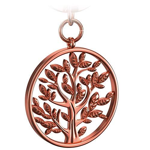 FABACH Lebensbaum Schlüsselanhänger Spring - Baum des Lebens Anhänger als Glücksbringer für den Schlüsselbund - Tree of Life Schlüsselanhänger in glänzendem Rosegold