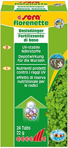 sera 03320 florenette - Basisdünger mit Nährstoffdepot für überwiegend wurzelzehrende Wasserpflanzen im Aquarium