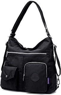 Nylon Casual Backpack Lightweight Multi-pocket Shoulder Bag Large Capacity Travel Bag