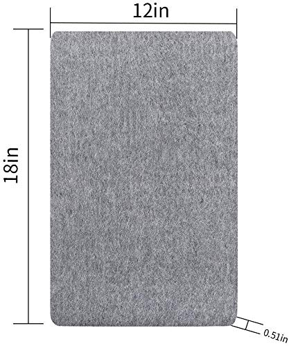 Adoture Bügelpolster, Wolle, professionelles Bügeln, tragbar, für zu Hause und kommerzielle Bügeln, Grau, 12 * 18in