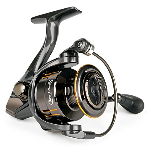 Sougayilang Fishing Reel, Light Smooth Bass Gear Spinning Casting Left Right Saltwater Freshwater Fishing Reels-WQ-4000