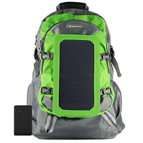 SolarGoPack Solar Powered Backpack / 7 Watt Solar Panel and 10K mAh Charging Battery...