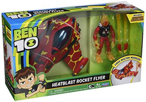 Ben 10–Veicolo Alien con Figura, HEATBLAST Rocket Flyer, Multicolore, Giochi ben20001