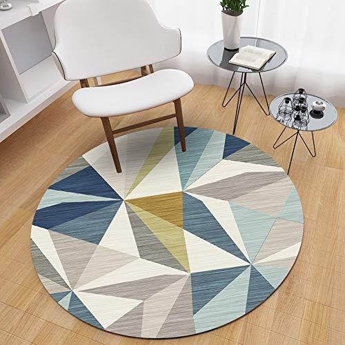 WANGXN eenvoudige Scandinavische ronde tapijt zacht en huidvriendelijk opknoping mand Computer bekleding