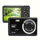 Vmotal Digital Camera 720P 12MP HD Rechargeable Camera,Video Camera Digital Students Cameras,Indoor Outdoor Pocket Camera for Kids (Black)