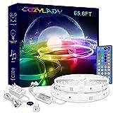 Cozylady LED Lights Strip 65.6FT - Ultra-Long Music LED Strip Lights for Bedroom, Room Decor, Bedroom Decor, Children's Room