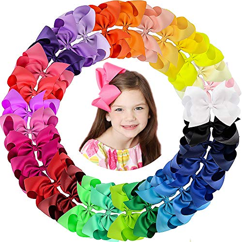 Oaoleer Hair Bows Clips Grosgrain Ribbon Bows Hair Alligator Clips Hair Barrettes Hair Accessories for Girls Toddler Infants Kids Teens Children