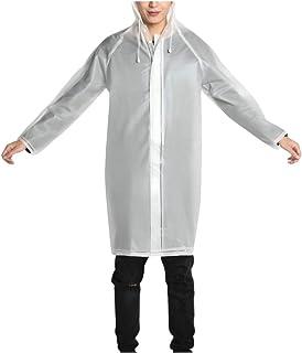 WUFAN Rain Poncho for Unisex Lightweight Waterproof Clear Rain Poncho