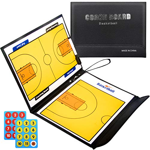 Coaches Boards,Basketball Coaches Clipboard, White Boards Basketball Lacrosse Coaches Dry Erase Clipboard,Batting Lineup Coaches Clipboard Tactical Magnetic Board Kit with Dry Erase Accessories