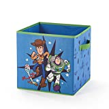 Idea Nuova Toy Story 4 Collapsible Storage Cube Featuring Buzz Lightyear, Woody & Forky, 12'X12', Blue