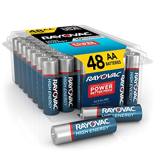Rayovac AA Batteries Alkaline Double A Batteries 48 Battery Count