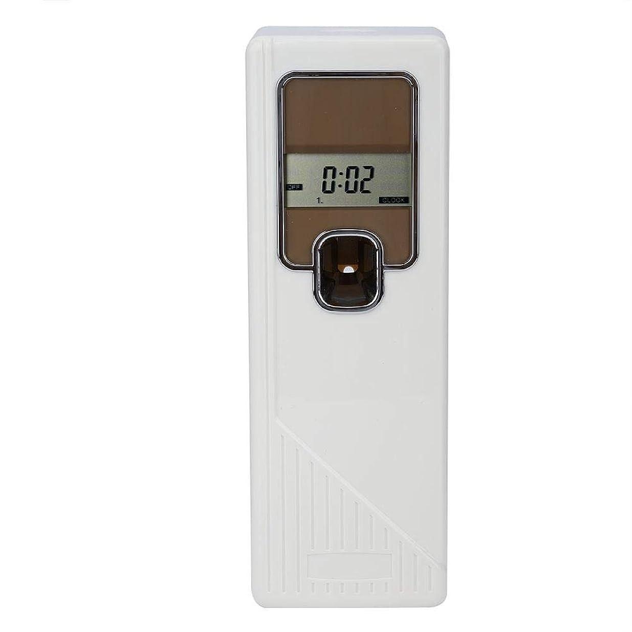 静的気候の山論理的アロマディフューザー 小型消臭器 エアゾールディスペンサー 設定時間 3つの動作モード LCD画面 家、企業の洗面所、居間、寝室、オフィス