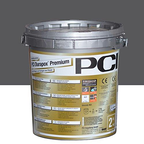 PCI Durapox Premium Reaktionsharz-Mörtel 2kg Eimer, Anthrazit