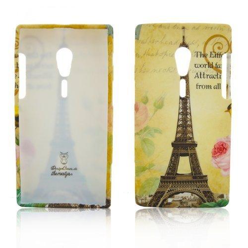 thematys® Sony Xperia Ion LT28i TPU cassa del telefono del silicone Parigi La Tour Eiffel Tower Design Custodia protettiva in caso di cassa del respingente
