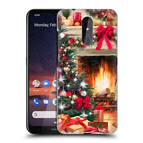 Officiële The Macneil Studio Open haard Kerstboom Hard Back Case Compatibel voor Nokia 3.2