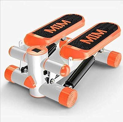 LJQ Orange Mini Stepper, 220 lb Mini Stepper, with Resistance Strap Mini Stepper Twist Stepper for All People