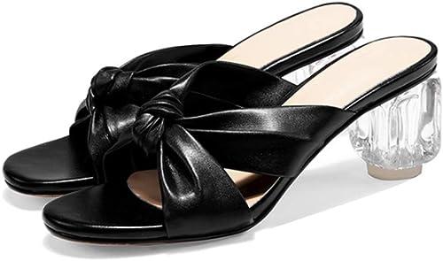 Sandales Femmes sont Encore épais avec des Sandales à Talons hauts-noir-36
