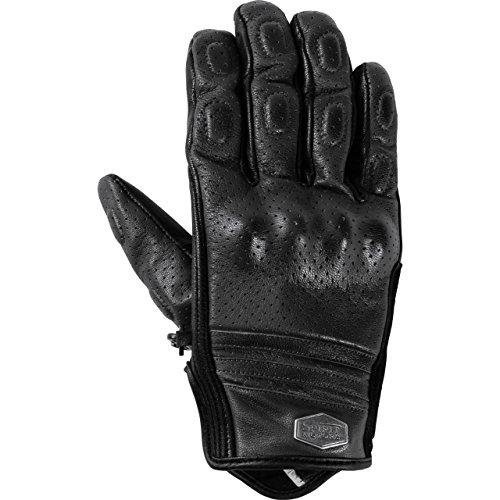 Spirit Motors Motorradhandschuhe kurz Motorrad Handschuh Lederhandschuh, gelocht 1.0 schwarz 9,5, Herren, Chopper/Cruiser, Sommer