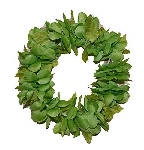 The Hawaiian Elastic Headband-haku lei (Solid Green)