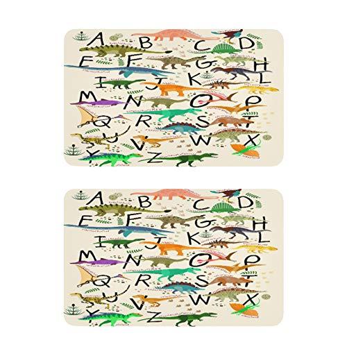 QMIN - Imanes para nevera, diseño de letra del alfabeto de dinosaurio, 2 unidades, divertidos y bonitos imanes decorativos para nevera, para cocina, lavavajillas, puerta de metal y oficina