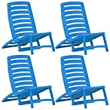 <span class='highlight'>vidaXL</span> 4x <span class='highlight'>Kids</span>' Folding Beach Chair Plastic Blue Patio Camping <span class='highlight'>Furniture</span> Seat